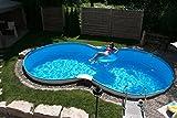 Exklusiv Schwimmbecken-Set Achtform von Summer Fun inkl. Sandfilteranlage, Aufstellbecken, ca. 525 x 320 x 120 cm