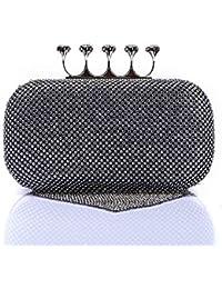 Abendtaschen schwarz Neue Frauen Elegante Glitter Lock Verschluss Geldbörse Kette Handtasche Abend Hochzeit Prom Bankett Partei Handtasche Schulter Tasche Gepäck & Taschen