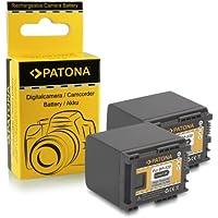 2x Bateria BP-820 para Canon HF-G30 | Canon XA20 | Canon XA25 | LEGRIA HF G30 | G25 | G20 | G10 | M30 | M31 | M32 | M40 | M41 | M300 | M301 | M400 | S10 | S11 | S1400