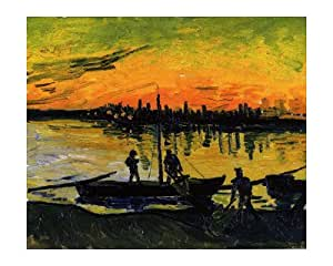 The Stevedores in Arles by Vincent van Gogh, 51x41