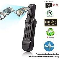 Hangang Mini Bolígrafo Cámara Oculta Espía, Video Cámara Grabadora de Vídeo HD Grabadora de Reunión
