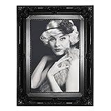 EUGAD Bilderrahmen Fotogalerie #51, Kunststoff Rahmen, Glas Vorderseite, Antik Barock, zum Aufstellen im Querformat und Hochformat, 12 Farben in 5 Größen (Schwarz, 20x30)
