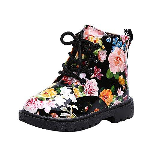 b790d6b984c7d Bottines Fille Enfant ☂☃ Filles Mode Floral Enfants Chaussures bébé Martin  Bottes Casual Enfants Bottes