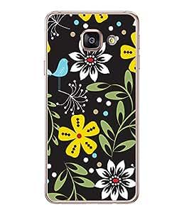 PrintVisa Designer Back Case Cover for Samsung Galaxy A7 (6) 2016 :: Samsung Galaxy A7 2016 Duos :: Samsung Galaxy A7 2016 A710F A710M A710Fd A7100 A710Y :: Samsung Galaxy A7 A710 2016 Edition (Cute Black Design With Flowers)