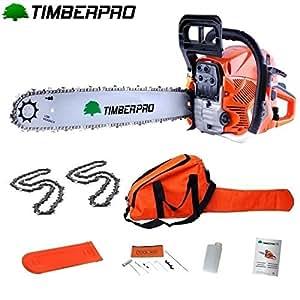 Tronçonneuse Thermique 62 cm3 guide 50 cm avec 2 chaines + housse de transport