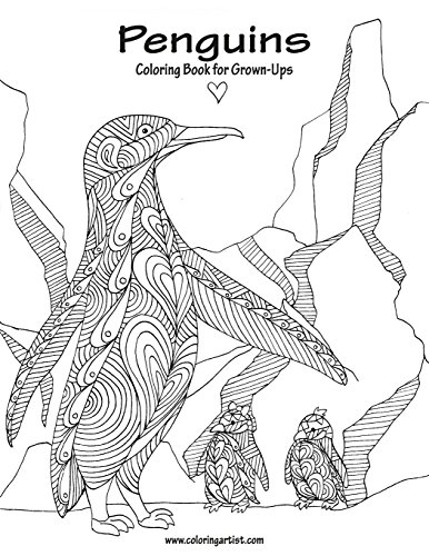 Penguins Coloring Book for Grown-Ups 1: Volume 1