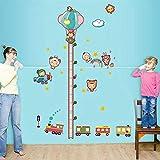 Suuyar Wandaufkleber Kinder Höhe Messen Auto Aufkleber Abnehmbare Wanddekor Für Kinder Baby Schlafzimmer Kinderzimmer