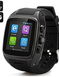 X01Wearable Android 4.4teléfono, 2.0MP/WiFi/GPS Control de Medios/llamadas manos libres/podómetro reloj