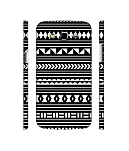 Casotec Black Pattern Designer 3D Printed Hard Back Case Cover for Samsung Galaxy Grand 2 G7102 / G7105