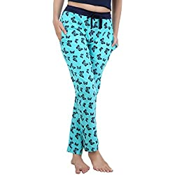 Nite Flite Womens Cotton Pyjama ,Blue, Navy ,Small