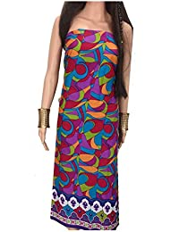 Kurti Material Blouse Fabric Pure Cotton colour fast, multicolour modern art print