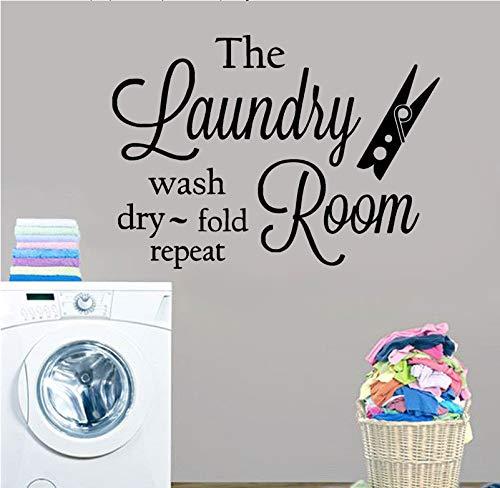 El lavadero arte de la pared calcomanía de vinilo lavar en seco...