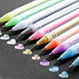10 pcs Surligneur Ensemble Set Outils de Peinture Bricolage pour la Coloration Art Couleurs Uniques de qualité supérieure Free Flow Fluide Lisse écriture Stylo de Couleur