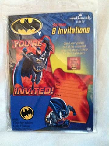 Batman 'Heroes and Villains' Invitations w/ Envelopes (8ct) by Hallmark