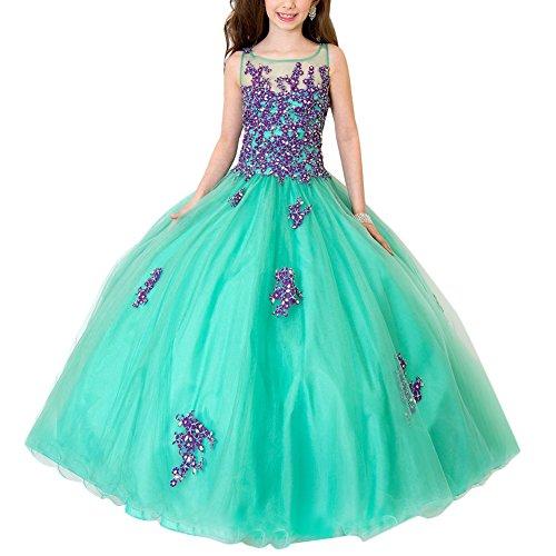 OBEEII Mädchen Meerjungfrau Prinzessin Kleid Coral Decor ärmelloses -
