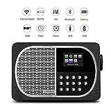 LEMEGA M2+ Tragbares Smart-Radio Und Kabelloser Lautsprecher Mit Wi-Fi, Internetradio, Spotify, Bluetooth, DLNA, DAB, DAB+, UKW-Radio, Uhr, Alarmen, Senderspeicher Und Kabelloser Appsteuerung - Schwarze Eiche