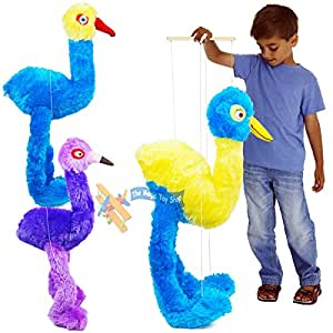 Giant Large Bird Emu Ostrich Marionette Hand String Puppet Soft Toy