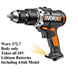 WORX 20V 372.7 BODY ONLY COMPATIBLE WITH ALL WORX 20V LITHIUM BATTERIES