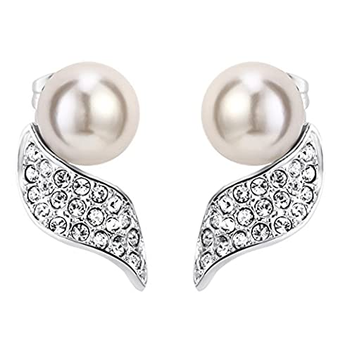 FANSING Bijoux Perles d'imitation Vague Stud Clous et puces Boucles d'oreilles Pour Elle Femmes Filles Cadeau