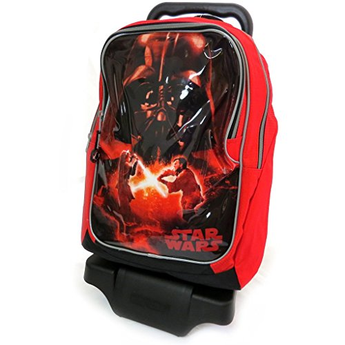 Star Wars [L4144] - Trolley Scolaire 'Star Wars' noir rouge (grand format)