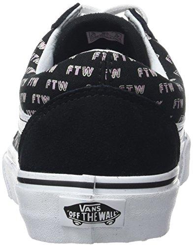 Vans Damen Ua Old Skool Sneakers Schwarz (Sayings Black)
