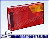 Lichtscheibe für Rückleuchte Aspöck Multipoint 1 I rechts 18-8452-007 Ersatzglas für Pkw Anhänger