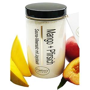 Sauna Salz Mango – Pfirsich mit Jojobaöl, Körperpeeling 400 g