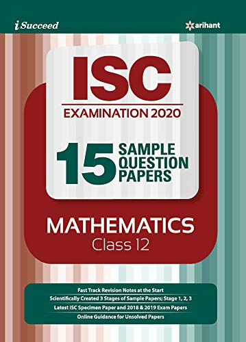 15 Sample Question Papers ISC Mathematics Class 12 2019-20