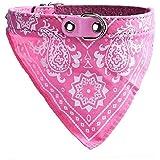 Tongshi perro PET ajustable cicatriz del cuello cachorro gato collar de bandana F pañuelo para el cuello (Rosa)