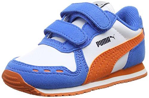 Puma Unisex-Kinder Cabana Racer Sl V Inf Low-Top Weiß (puma white-koi 48)