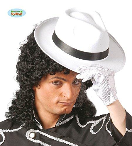 Fiestas Guirca GUI13507 - Weisser Gangsterhut mit schwarzer (Jahre Kostüm Gangster Halloween 20er)