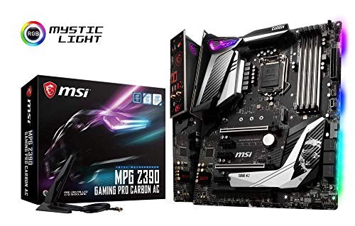 MSI MPG Z390 GAMING PRO CARBON AC - Placa base Performance (LGA 1151, 3 x PCI-E x16, Core Boost, M.2 SHIELD FROZR, 5 x USB 3.1 Gen2, Wireless-AC 9560, Audio Boost 4)