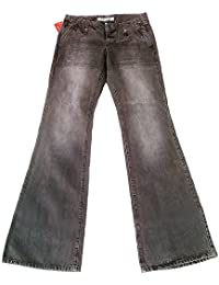 17e0f89d651ec8 Fornarina Damen Jeans Grau Club Denim Stonewash Rock Star Bootcut 70'er  Schlag Hose Schlagjeans