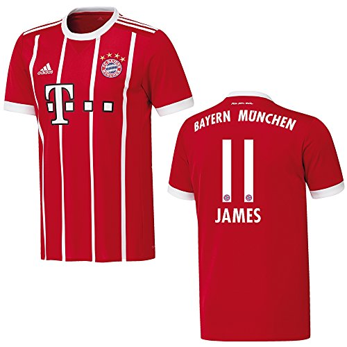 Adidas Bayern–Camiseta para hombre 2018, diseño James 11, xx-large