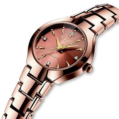 CIVO Relojes para Mujer Reloj Mujers Impermeable Oro Rosa Elegante Banda de Acero Inoxidable Relojes de Pulsera de Señoras Moda Vestidos Negocio Lujo Casuales Reloj de Cuarzo