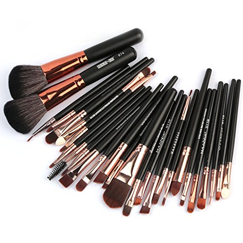 MRULIC 22pcs Make UP Pinsel Pinselset Schminkpinsel Kosmetikpinsel Kosmetik Brush (C-27Stück) -