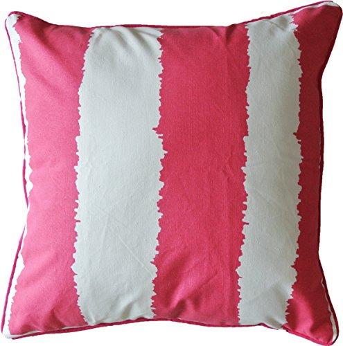 hometale breit bedruckter Streifen mit pipingdecorative Überwurf Kissenbezug 45,7cm Hot Pink -