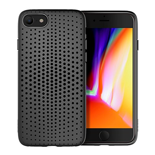 Philip Peacoc Dot-Serie für iPhone 8 & 7 Mesh-Stil TPU atmungsaktive Soft Protective Back Cover Case (Großauswahl : Ip8f7031b) -
