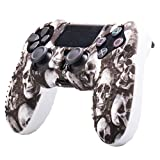 Thboxes Camouflage Soft Silicone Case Skin Grip Cover for Playstation 4 PS4 Controller Skeleton