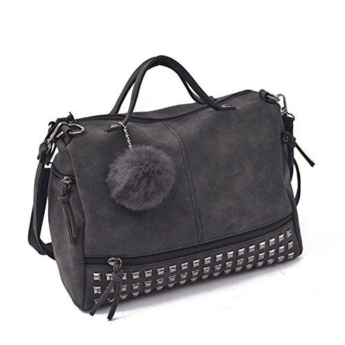 Damenmode Handtasche Niet Umhängetasche Lässig Tasche Black
