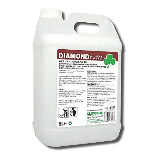 Clover Chemikalien bdc020-5Diamant extra wet look Bohnerwachs, 5l Volumen (2Stück)