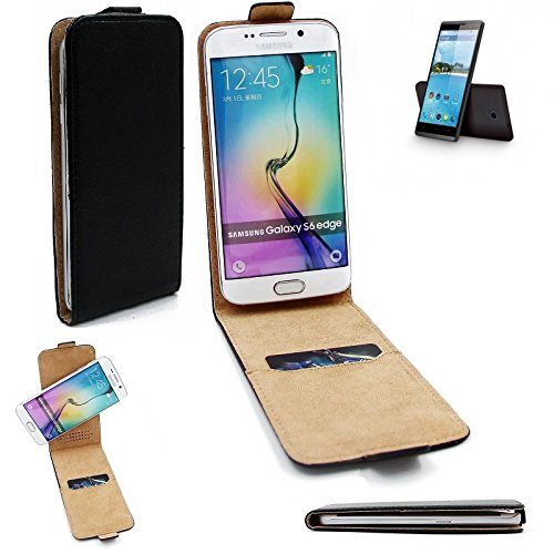 K-S-Trade Für Hisense Sero 5 Flipstyle Schutz Hülle 360° Smartphone Tasche, schwarz, Case Flip Cover für Hisense Sero 5