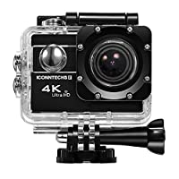 ICONNTECHS IT Waterproof 4k Action Camera Underwater Sports Action Cam for Scuba Diving wifi Sport Dive Camcorder 60fps 20mp HD Helmet Cameras with 170 Degree Wide Viewing Angle Head Cams???Black???