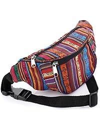 Multi Colour Tribal Print Coloured Bum Bag