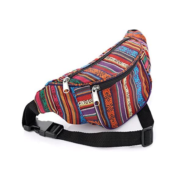 Multi Coloured Tribal Print Bum Bag / Fanny Pack - Festivals /Club Wear/ Holiday Wear 1