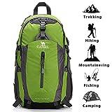 CAMEL Wandern Rucksack Leichte Reise Packable Durable Wasserdichte Sport Daypack für Camping Angeln Reise Radfahren Skifahren Grün 40L