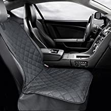Carmoni Pet Front Seat Cover for Cars, WaterProof & Hammock Convertible,Nonslip Rubber Backing with Anchors, Installing Easily and Machine Washable Pet Seat Covers For Cars, SUVs and Trucks