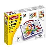 Quercetti 0924 - Mosaik-Steckspiel Fanta Color Portable Small