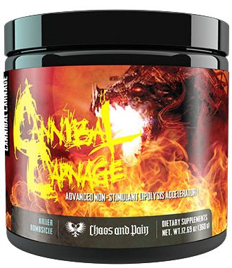 Caos and Pain Cannibal Carnage Extrem Fatburner Fettbrenner Fettverbrennung Bodybuilding Diät 360g - Killer Bombsicle