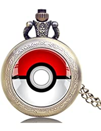 ShopyStore 2016 New Classical Pokemon Go Game Theme Quartz Pocket Watch With Chain Pendant Gift For